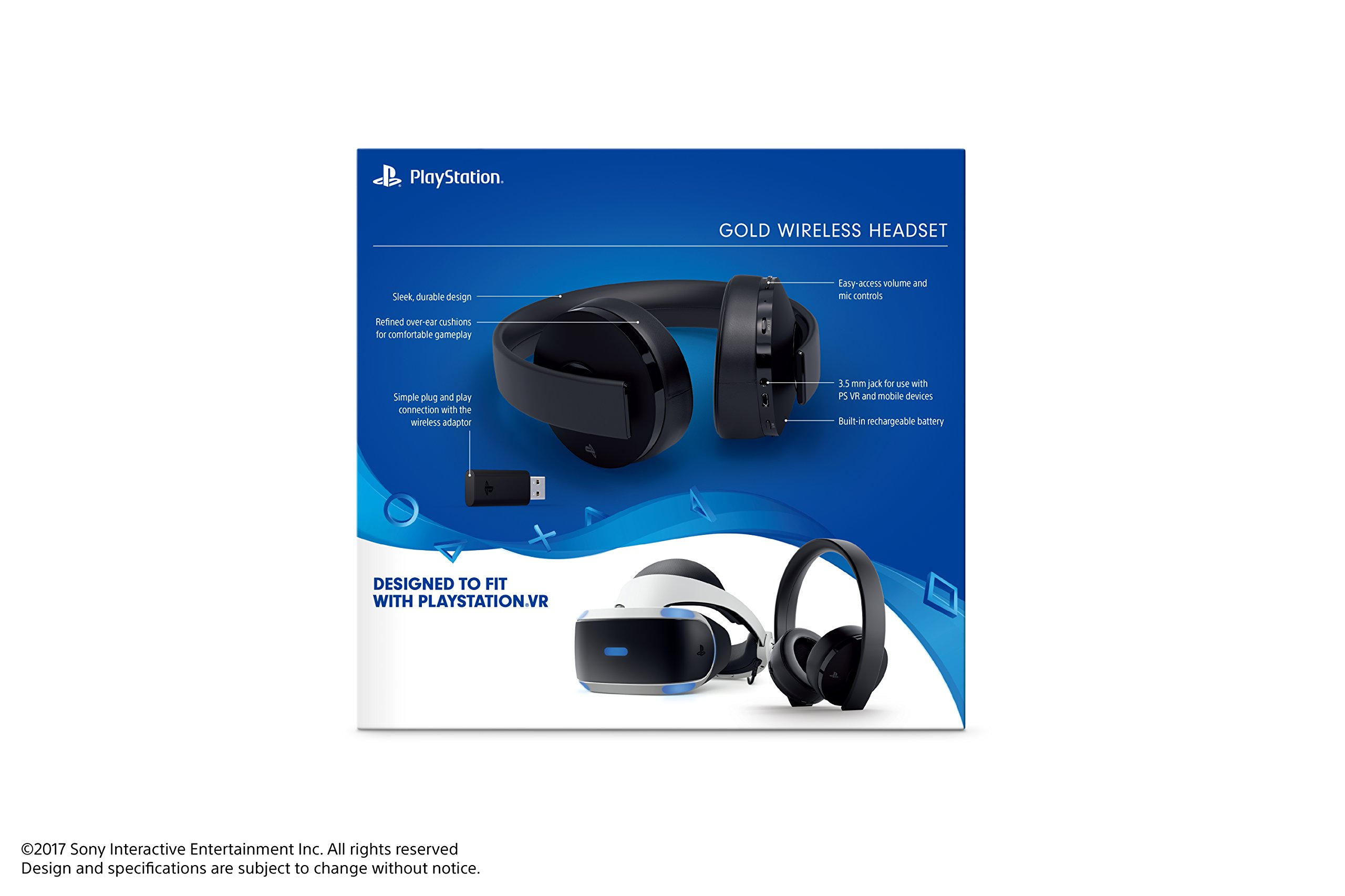 PlayStation Gold Wireless Headset - PlayStation 4 by Sony