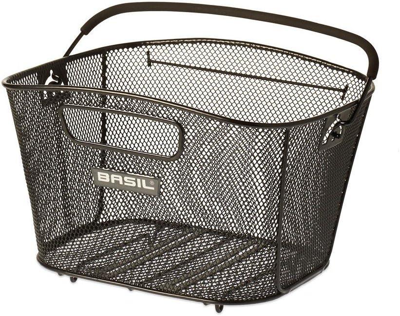 Basil Unisex 41 cm x 32 cm x 27 cm Adult Bold M Bicycle Basket Black