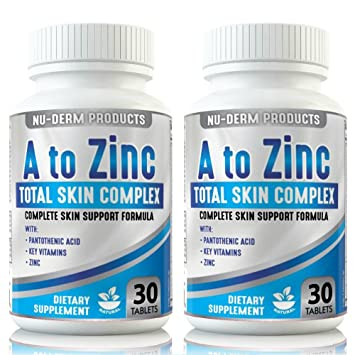 Amazon Com Acne Treatment Acne Vitamins A To Zinc 2pk Blackhead