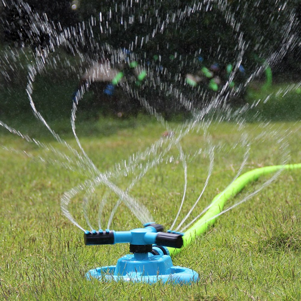 Ueasy Portable Garden Watering System ABS Watering Kits 360 Degree Automatic Watering Rotating Water Sprinkler System Home Garden Irrigation Sprayer Garden Irrigation Fountain Nozzle Garden Lawn Irrigation Watering Gun with one Watering Joint Set Updated