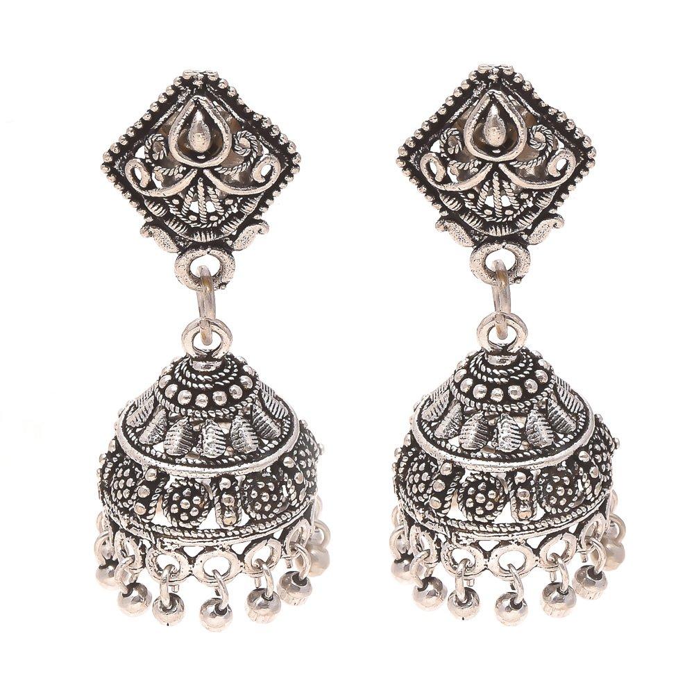 Jewar Fashion Afghani Oxidised Dangler Stylish Fancy Party Wear Earrings for Girls /& Women 7875