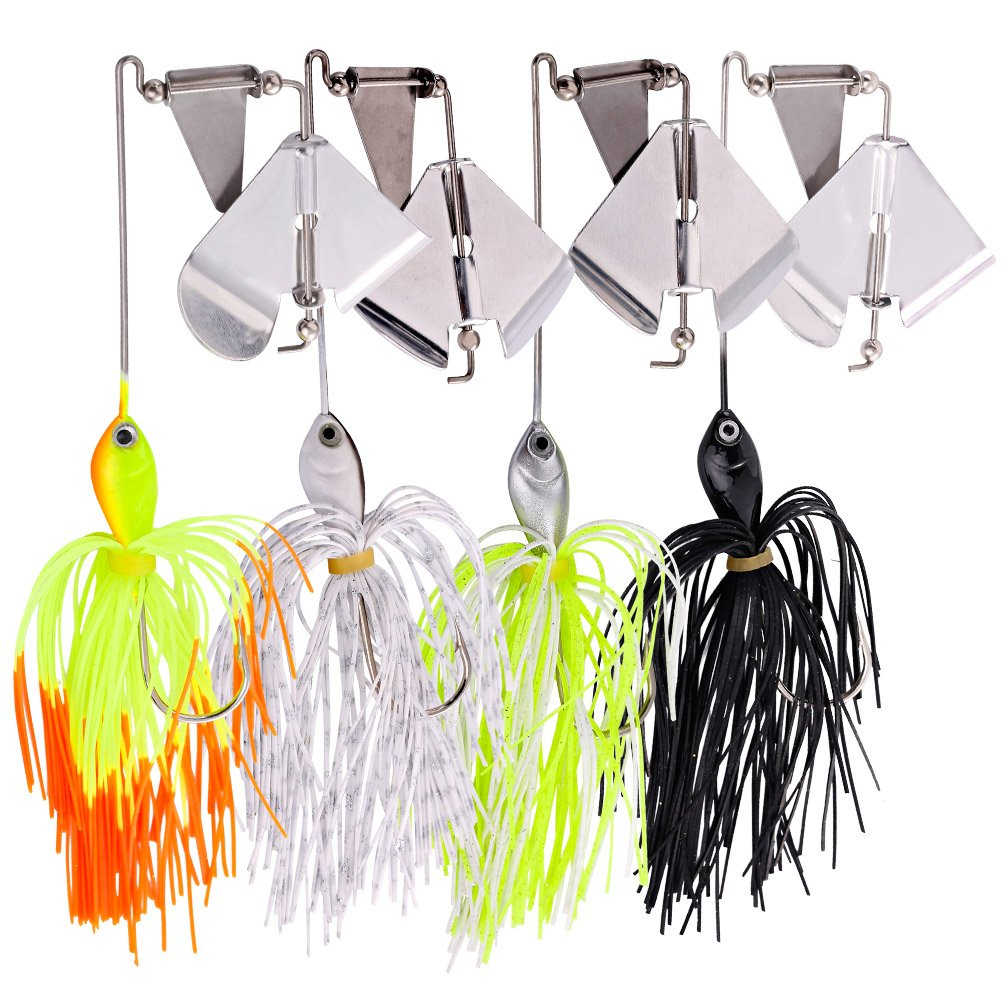 Sougayilang Fishing Lures Buzzbait Spinnerbait Topwater Lure for Bass Pike Fishing by Sougayilang