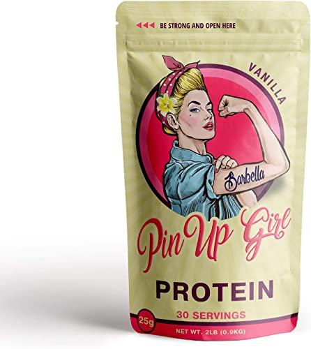 Pin Up Girl Protein Whey Isolate Powder 25 Grams of Protein Per Serving Low Calorie, Fat Free, Sugar Free, Zero Carb for Women 30 Servings 32 Ounce Vanilla
