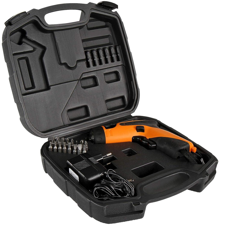 Transportkoffer Leistung 220-240 V inkl Drehmoment 4Nm Akkuschrauberset Akku-bohrschrauber Heimwerken Werkzeuge Akkuschrauber Set mit 16 Schrauber-Bits