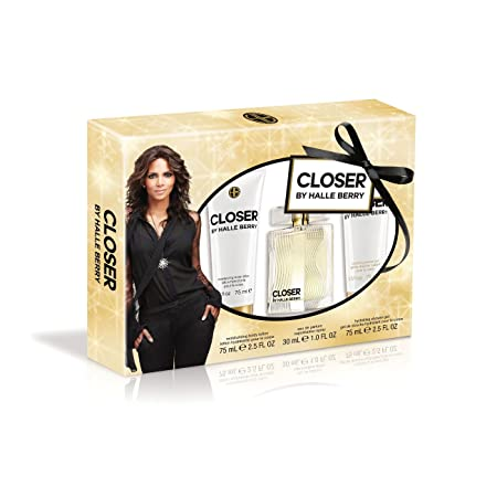 Halle Berry Closer 3 Piece Gift Set 1 Ounce Eau De Parfum Plus 2.5 Ounce Body Lotion Plus 2.5 Ounce Shower Gel