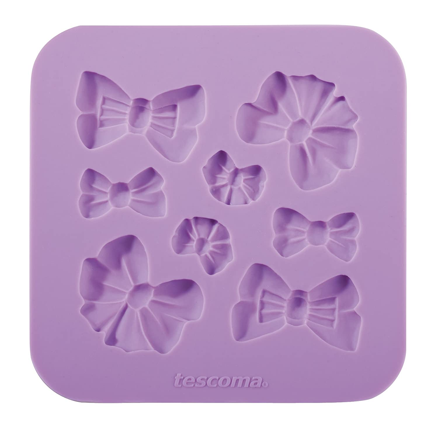 """Assorted 17.5 x 15.4 x 1.3 cm Little Bows """"Delicia Deco"""" Tescoma Silicone Moulds"""