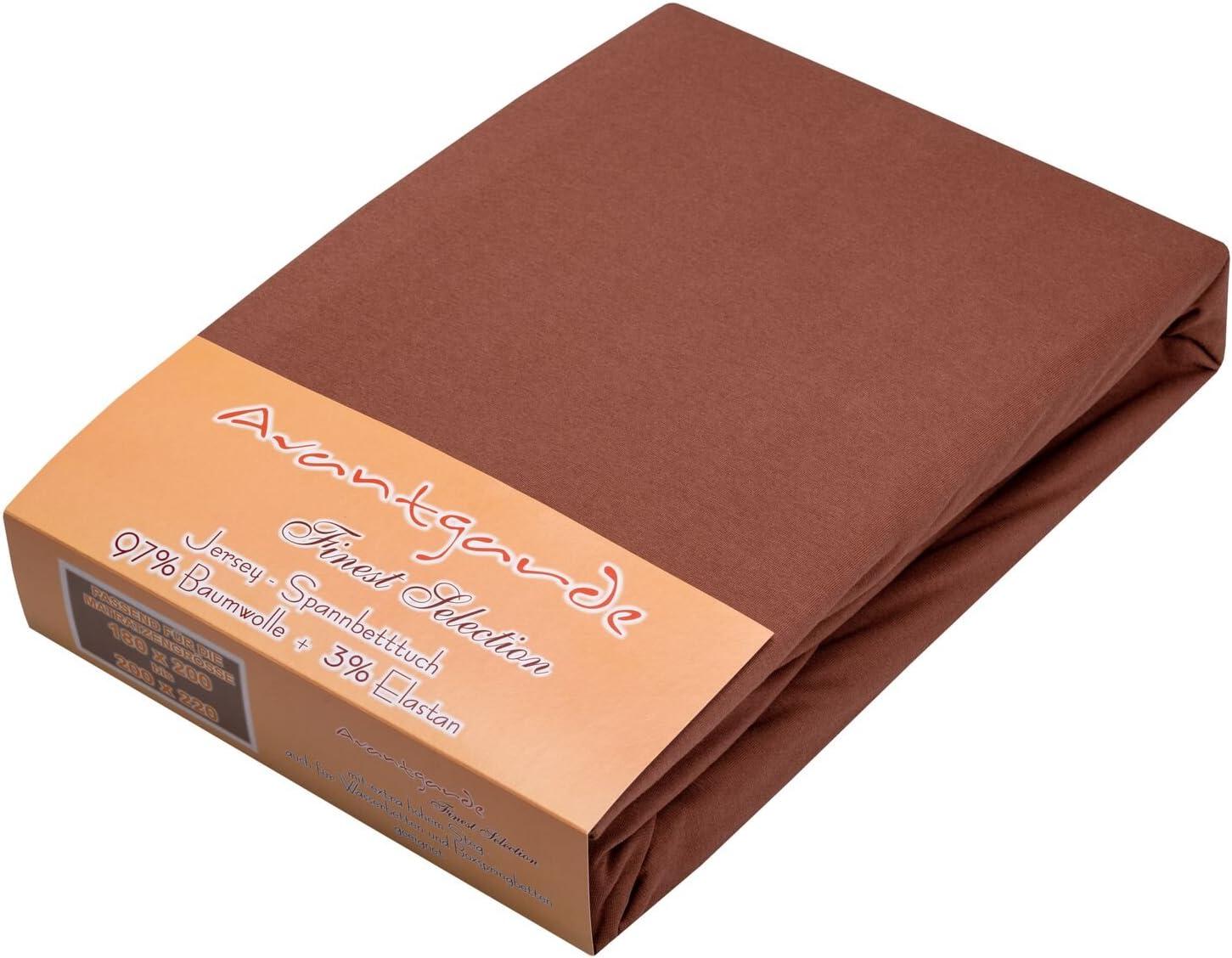 PREMIUM SPANNBETTLAKEN EXTRA HOHER 40cm-STEG WASSERBETT /& BOXSPRINGBETT /√ 1,3 kg /√ 97/% MAKO-JERSEY-BAUMWOLLE /√ 3/% ELASTAN /√ 195g//m/² /√ BLICKDICHT /√ EINLAUFSCHUTZ /√ orange, 180x200-200x220