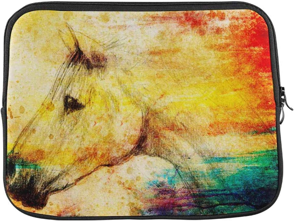Vintage Horse Painting Laptop Sleeve Case 15 15.6 Inch Briefcase Cover Protective Notebook Laptop Bag
