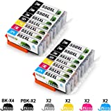 JARBO 6 Colori Compatibile Canon PGI-550 XL CLI-551 XL Cartucce d'inchiostro Alta Capacità Compatibile con Canon PIXMA IP8750 MG6350 MG7150 MG7550 IP8700 MG6300 MG7100 MG7500 (4 PGI-550 Nero,2 CLI-551 Nero,2 Ciano,2 Magenta,2 Giallo,2 Grigio)