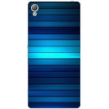 Carcasa Sony Xperia Z3 - Líneas Colores Azules: Amazon.es ...