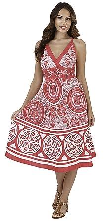 233bb43bae1c Lora Dora Womens V Neck Summer Dress: Amazon.co.uk: Clothing