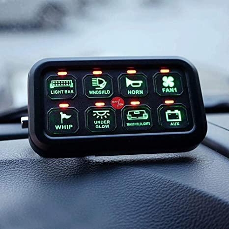 ironwalls 8 gang led on off car control switch panel with wiring harness and label stickers for car marine boat trunk jeep caravan ford  automotive wiring harness labels #11
