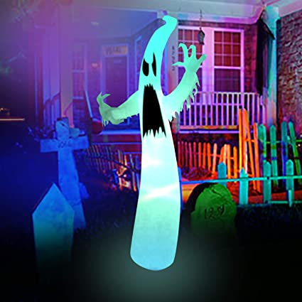 BestParty 8ft Halloween Decorations Inflatable Scary Ghost Ideas for Party  Yard Outdoor Indoor with LED