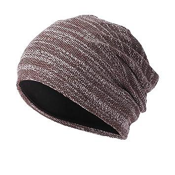 cf82e010b638c8 Men Women Knitted Hats Pile Caps, Sttech1 Warm Crochet Winter Wool Knit Ski  Beanie Skull