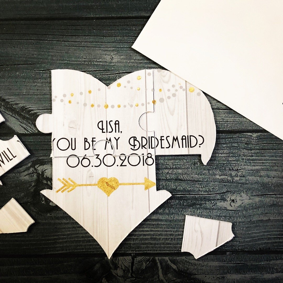 Bridesmaid Proposal Puzzle, Will you be my Bridesmaid, Maid of Honor, Matron of Honor, Flower Girl, Etc