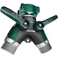 2wayz All Metal Body Garden Hose Splitter. 2021 Version - 100% Secured, Bolted & Threaded. Easy Grip, Smooth Long…