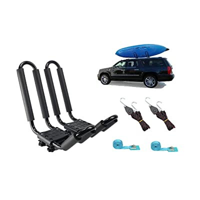 Mrhardware A01 Kayak Roof Rack for SUV Car Top Roof Mount Carrier J Cross Bar Canoe Boat (1 Pairs) : Sports & Outdoors