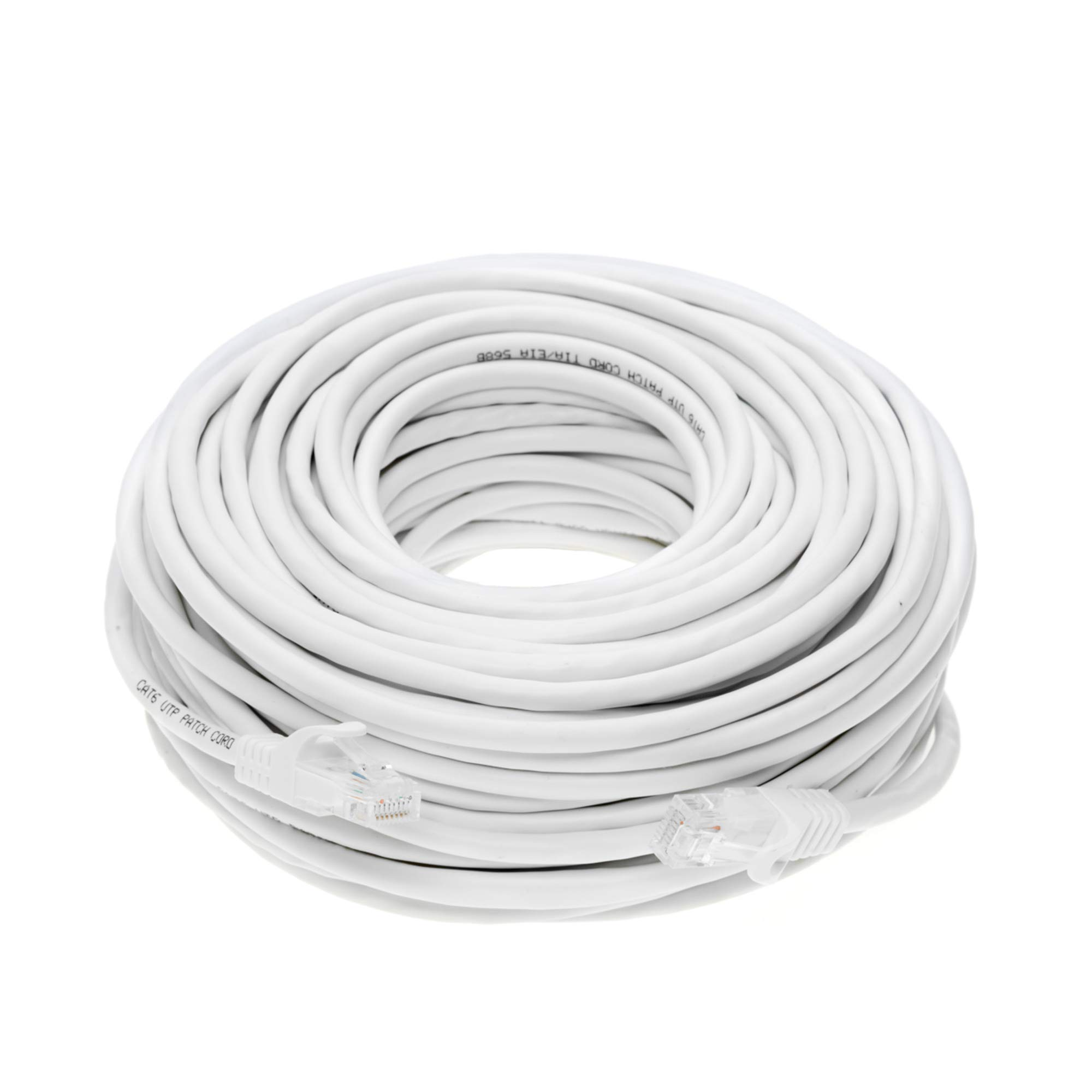 Cat6 100FT Networking RJ45 Ethernet Patch Cable Xbox  PC  Modem  PS4  Router - (100 Feet) White by Cables Direct Online