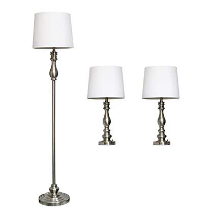 Superieur Elegant Designs LC1015 BST Three Pack Lamp Set (2 Table Lamps, 1 Floor