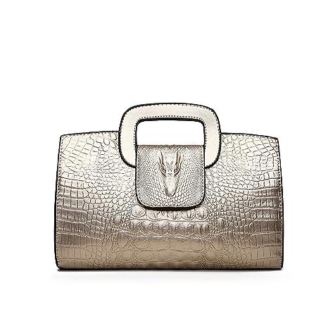 Tisdaini Mujer Bolso Mano Moda Bolsas de Mano de Marca Hombro Bolsa Messenger Bag Cuero de