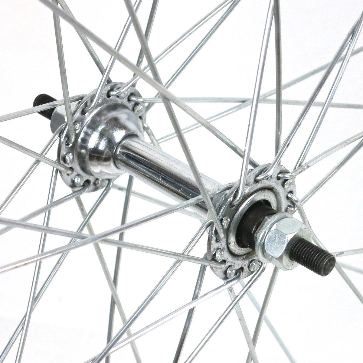 Ruote Westrick anteriori e posteriori in acciaio cromato 28 x 1 /½ per biciclette classiche