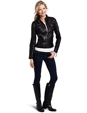 f239f43f519dbb Michael Michael Kors Women's Racer Leather at Amazon Women's Coats Shop