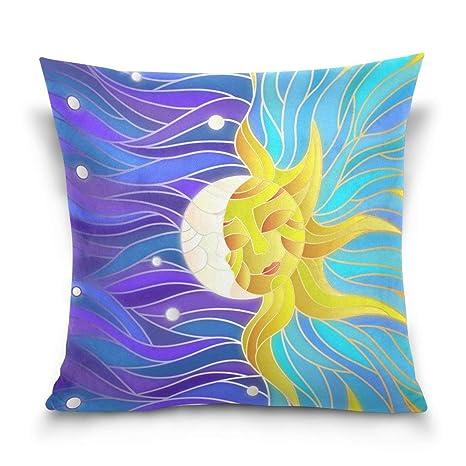 LilyNa Funda de Almohada Cuadrada Decorativa con diseño de ...