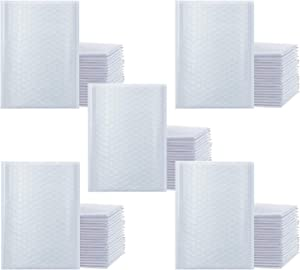 """iMBAPrice - 250#0 (6"""" x 10"""") Pure White Color SELF Seal Poly Bubble MAILERS Padded Shipping ENVELOPES (Total 250 Bags)"""