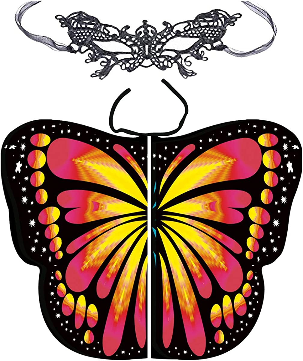 Butterfly Wings for Women Monarch Butterfly Shawl Cape Halloween Costume Cosplay