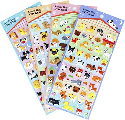 CARD CRAFT STICKERS SCRAPBOOKING WORKING AND PASTORAL DOG CRAFT STICKERS
