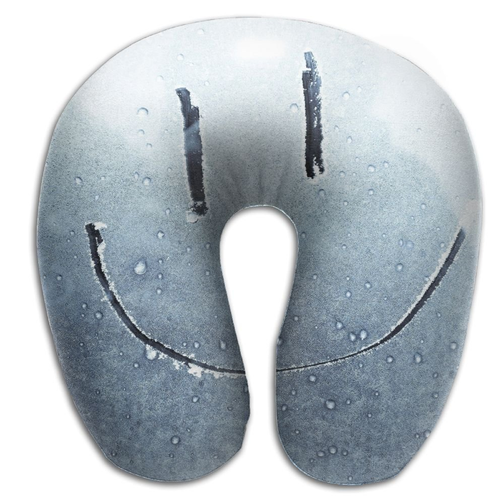 Smiley Face On Window Super U Type Pillow Neck Pillow Outdoor Travel Pillow Relief Neck Pain