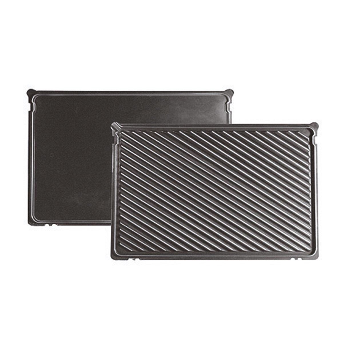 Bosch TFB4431V - Grill de contacto, 2.000 W, 3 posiciones de la parrilla, termostatos independientes para la placa inferior y superior, color gris ...