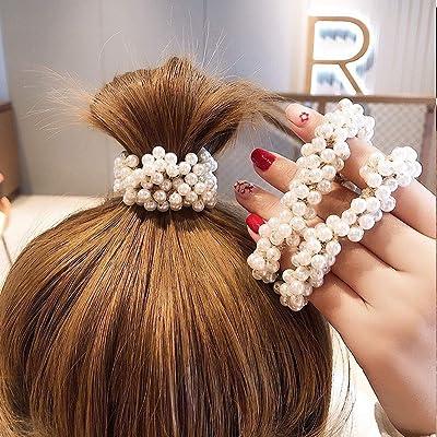 Womens Scrunchies Hair Ring Hair Tie Hair Rope Band Ponytail Headwear Accessory