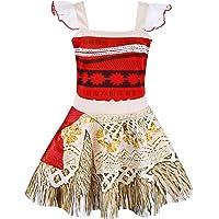AmzBarley Moana Vaiana Disfraz Costume Niña Bebe, Princesa Disfraz Vestido Niña Traje Adventure Infantil para Carnaval…