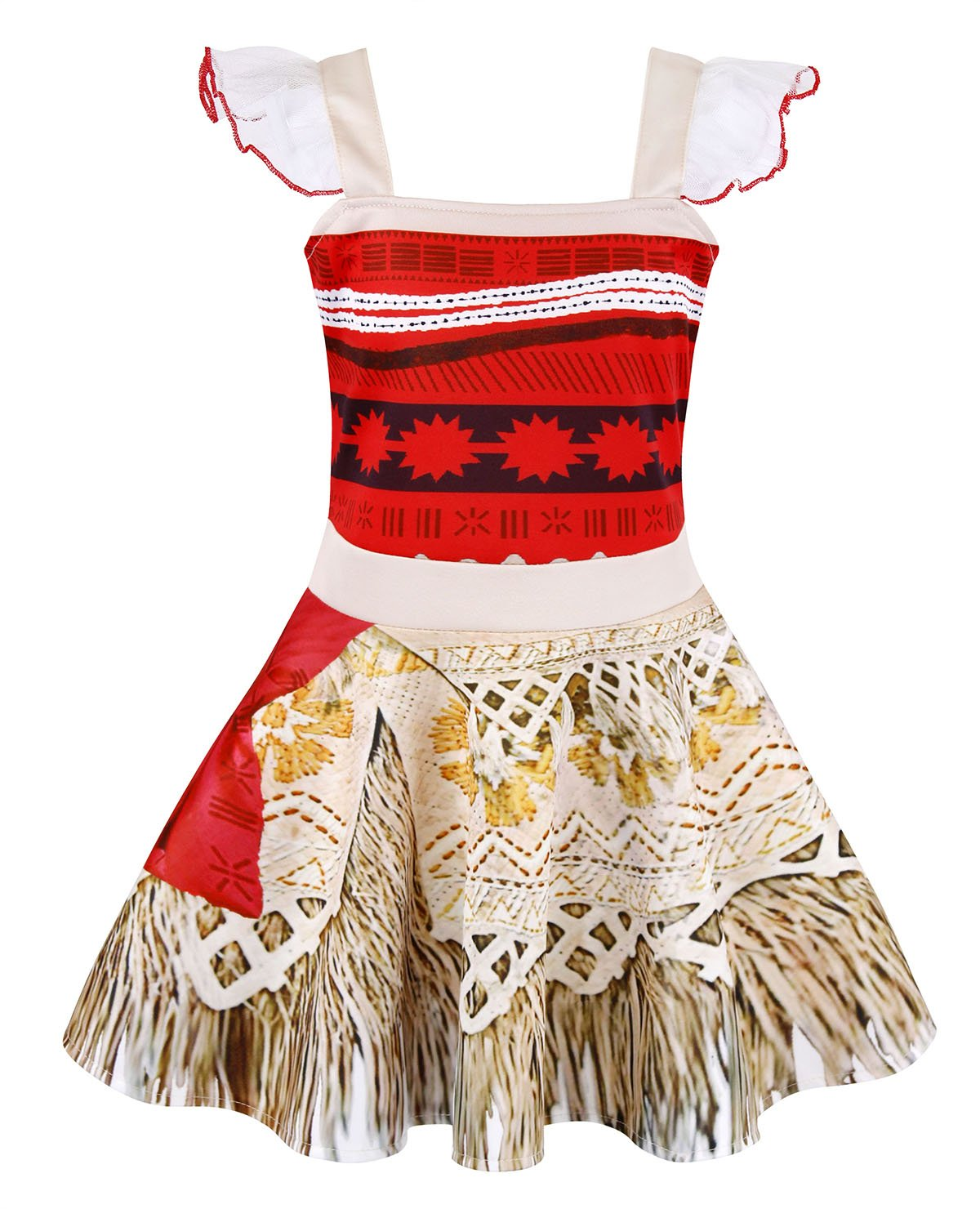 AmzBarley Princess Moana Dress Adventure Costume for Girls Kids Halloween Party Cosplay Fancy Dress Up