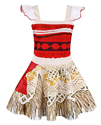 Kids' Clothing, Shoes & Accs Lovely Girls Kids Moana Sleeveless Party Holiday Birthday Dress B4