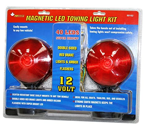 12v magnetic led tow light kit 40 led: amazon ca: tools & home improvement