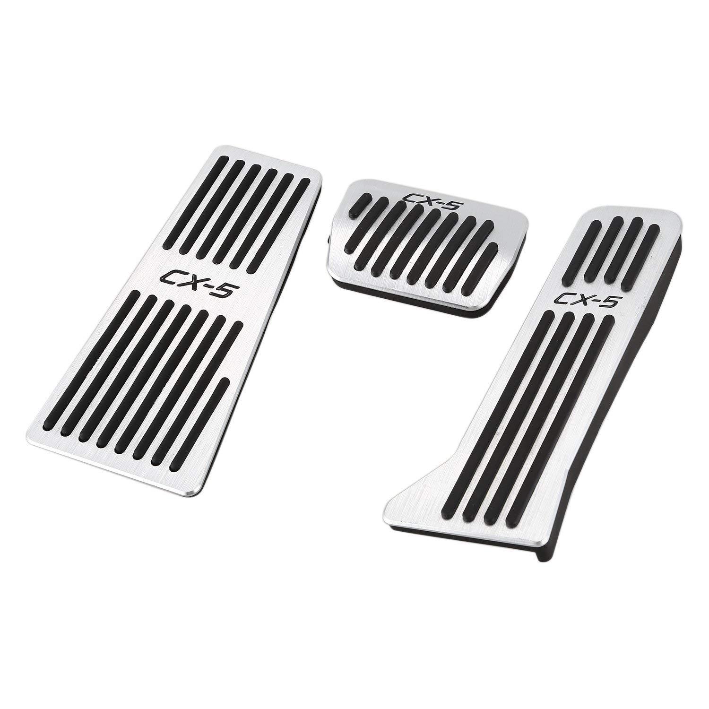 SODIAL For Automatic File Mazda Cx5 Cx-5 2017 2018 Car Accelerator Oil Footrest Pedal Plate Throttle Brake Treadle Interior Accessories 206161