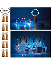 15 LED Bottle Cork String Lights Wine Bottle Fairy Mini String Lights Copper Wire, Battery Operated Starry Lights for DIY Christmas Halloween Wedding Party Indoor Outdoor
