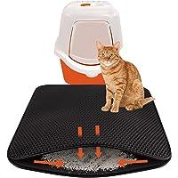 DEKOLONA® KATZENKLO Matte 75x58 cm innovatives Kronen-Wabendesign fängt Katzenstreu aus Katzen-Toilette perfekt auf