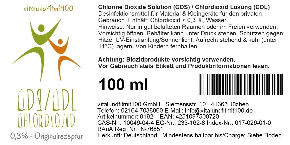 f56fdfa6cdd6e4 Chlorine Dioxide Solution 0.3% 3000ppm (CDS CDL) Innovative in Miron violet  glass bottle 100 ml  Amazon.co.uk  Health   Personal Care