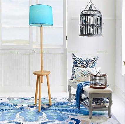 ZYY&LIGHT Lámpara de pie Moderna Simple de la Sala de Estar de Madera Maciza del Dormitorio