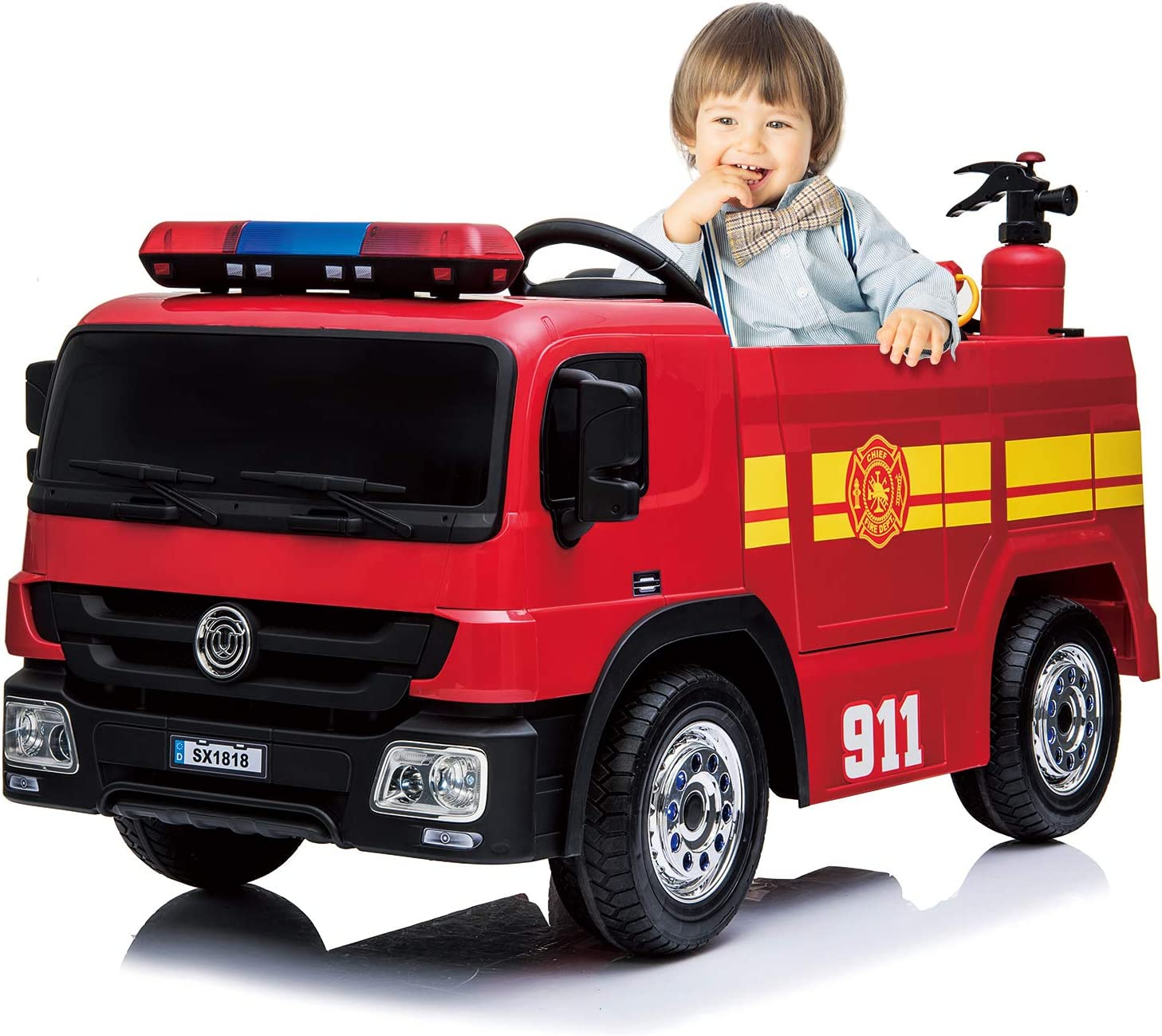 kidsclub Ride On Fire Truck -best Remote Control Electric Car