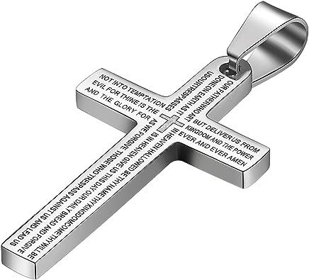 croix catholique collier homme
