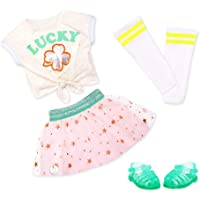 Glitter Girls Dolls by Battat – My Lucky Star Fashion Outfit (Green & Pink) – 14-inch Doll Clothes and Accessories for…