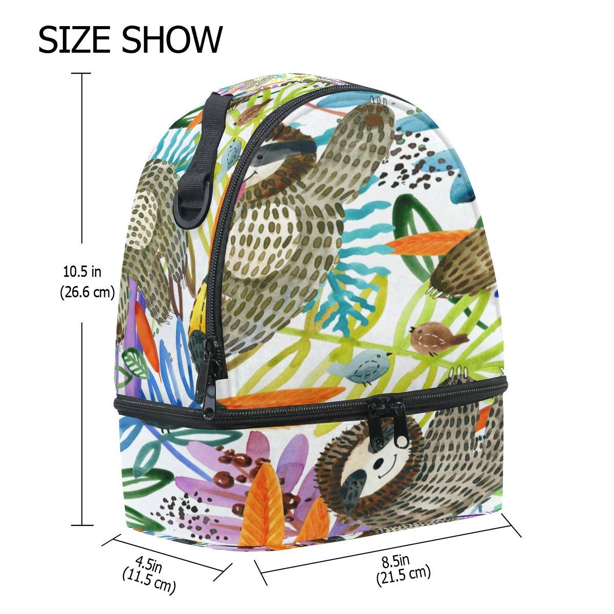 ALAZA - Bolsa de almuerzo para el el el aire libre, diseño de flor de dibujos animados de la naturaleza tropical 3d815d