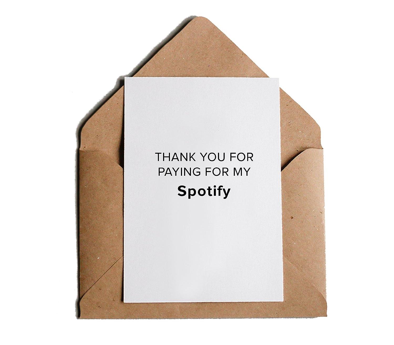 Gracias por pagar para mi Spotify amor gracias tarjeta de ...