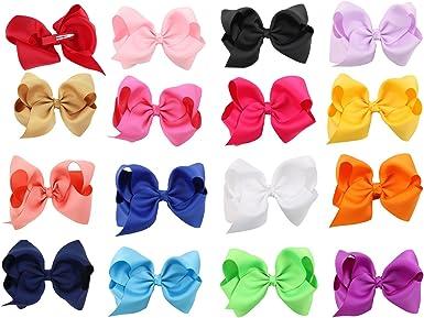5//10Pcs Sweet Baby Newborn Infant Kids Girls Bow Bowknot Hair Clips Hairpin WZ