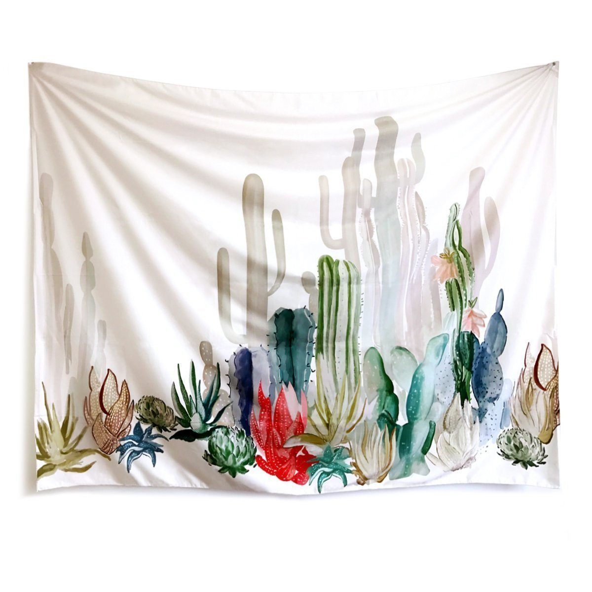 Cactus Landscape Wall Tapestry Wall Hangings Boho Bedroom Decoration Tablecloth Home Decor (58H x 78W, Cactus) Shukqueen