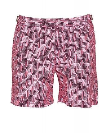 518659ae94 Orlebar Brown Bulldog Pink Anemone Konig Print Mid Length Swimshorts:  Amazon.co.uk: Clothing